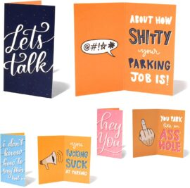 Tiny Bad Parking Cards 3x Designs (pack of 18)
